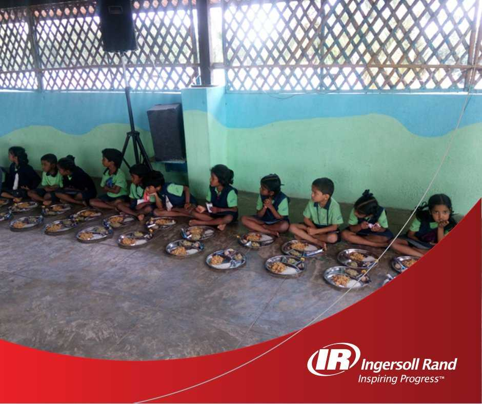 Mid-day meals to underprivileged children