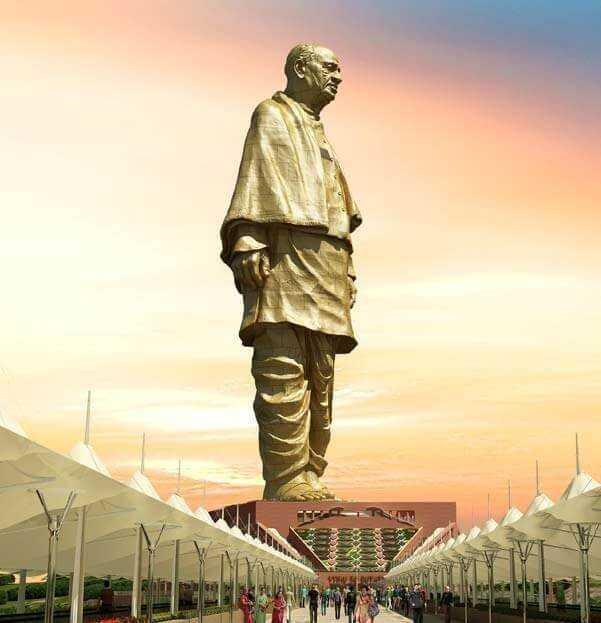 Construction of Statue of Unity