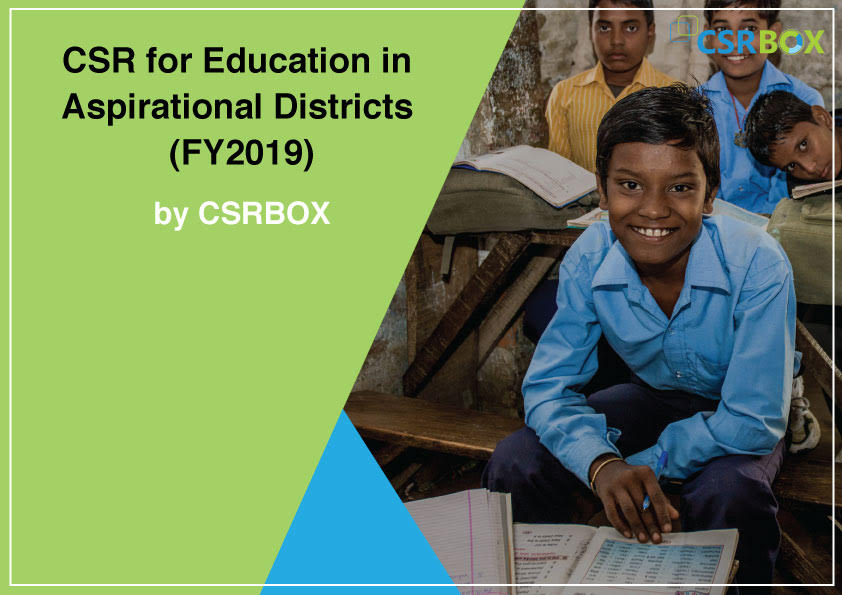 CSR for Education in Aspirational Districts (FY2019)