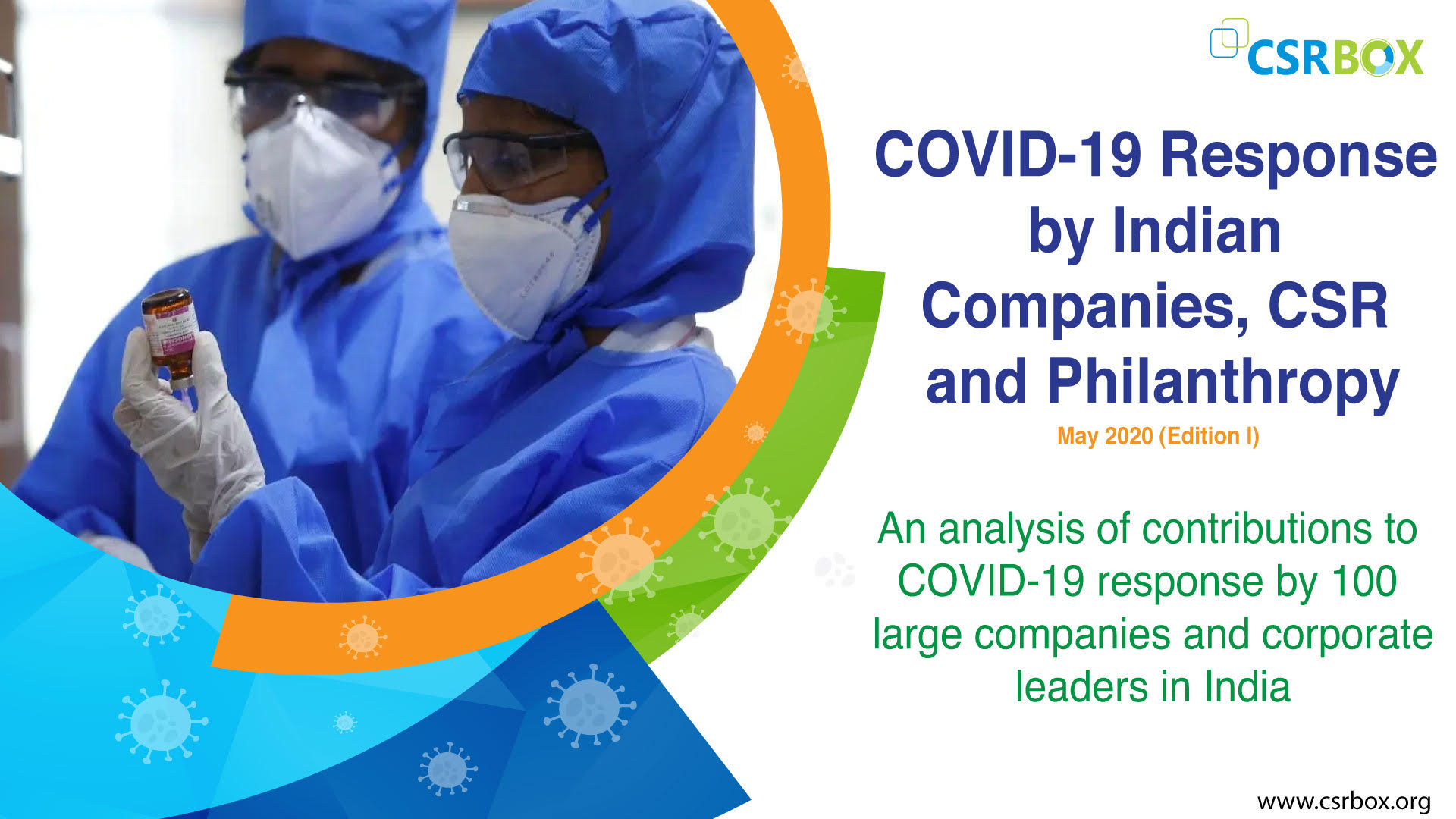 COVID-19 Response by Indian Companies, CSR and Philanthropy
