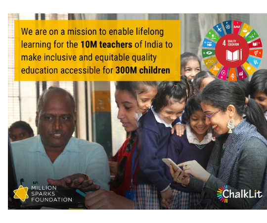ChalkLit: Mobile platform enabling lifelong learning and continuous capacity building for educators