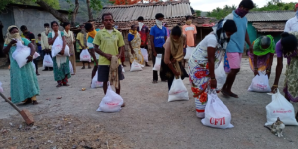 CFTI's Lock Down Efforts during COVID help the Needy to Sustain Hunger