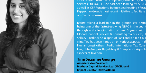In-Conversation-with-Tina-Suzanne-George,-Associate-Vice-President--Muthoot-Capital-Services-Ltd.-(MCSL)-and--Impact-Director--#RestartIndia
