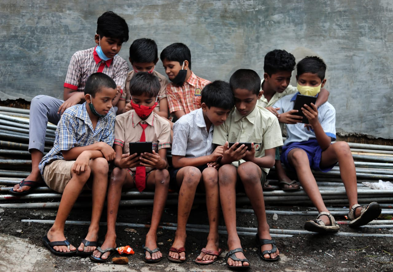 Tablets to underprivileged children for online classes