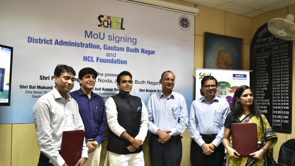 HCL Foundation Signs MoU with District Administration of Gautam Budh Nagar