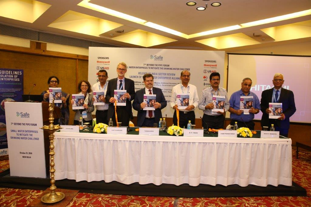 USAID Launches' small Water Enterprise' Alliance At safe Water Network's 7thbeyond The Pipe Forum, New Delhi