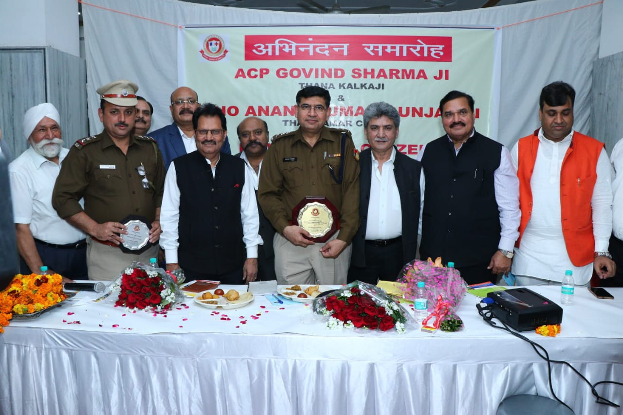 AAP International organizes a felicitation programme to honour ACP Govind Sharma and SHO Anant Kumar for their unflinching support to the elderly people