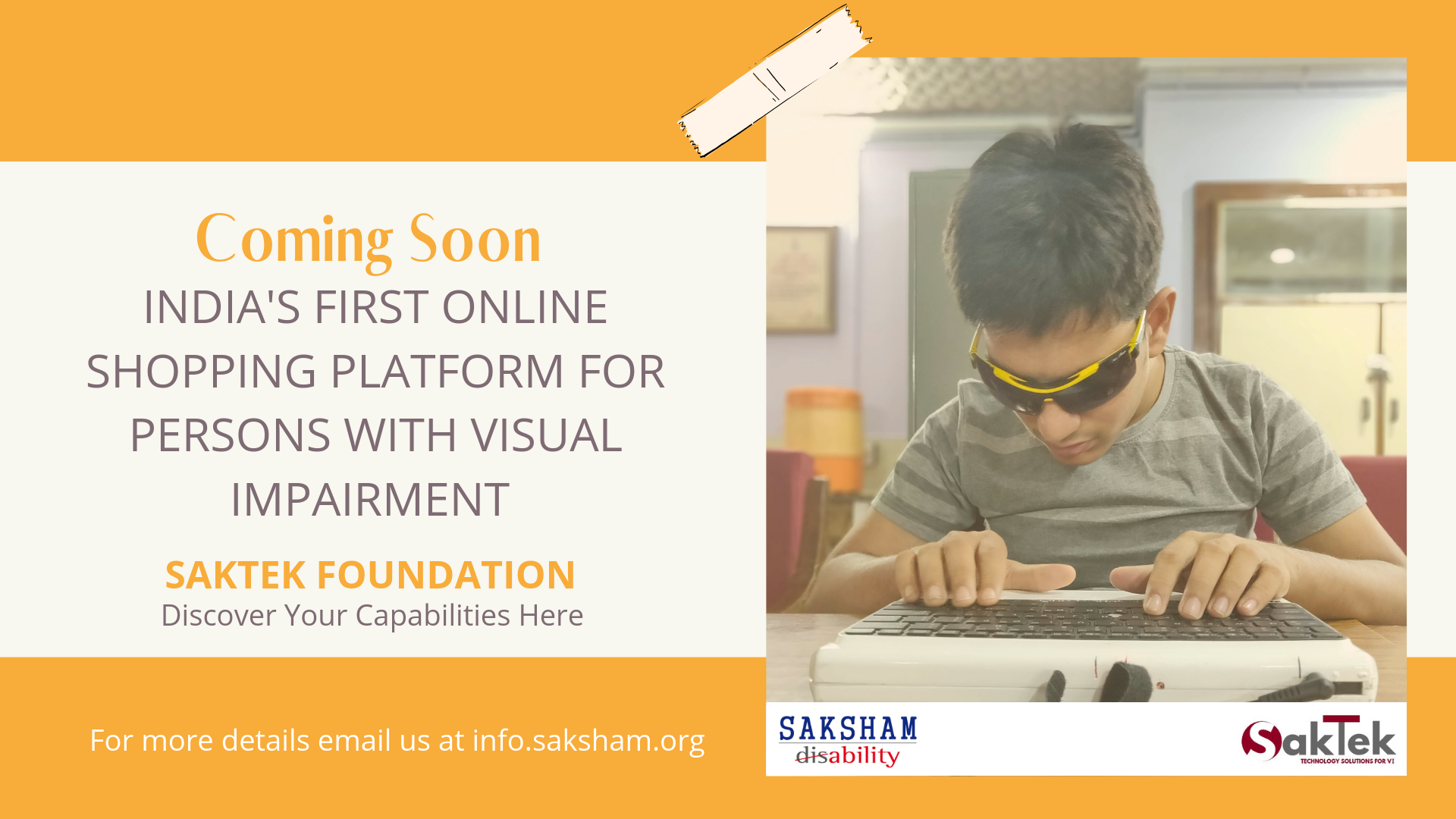 Online Store for Assistive Technology Solution for persons with Visual Impairment- Launching Soon
