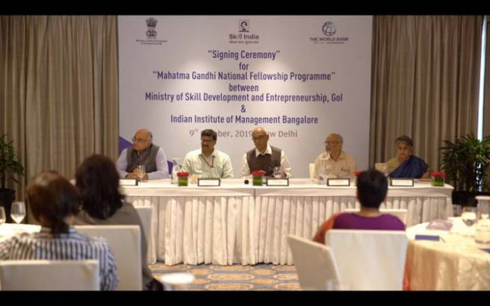 Ministry of Skill Development and Entrepreneurship launches Mahatma Gandhi National Fellowship Programme with IIM Bangalore
