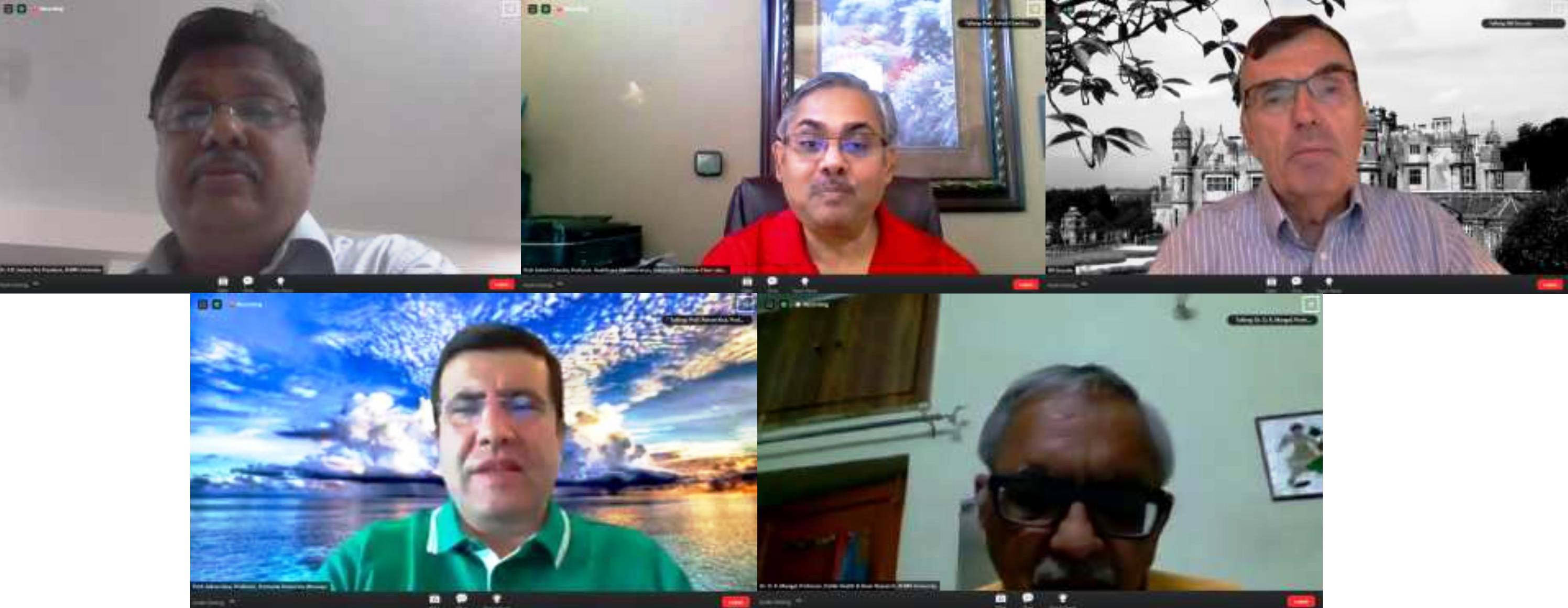 Experts Deliberate on Impact of COVID-19 on Global Healthcare at IIHMR Webinar