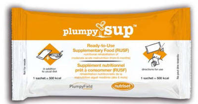 Plumpy SUP (Ready To Use Supplementary Food) RUSF