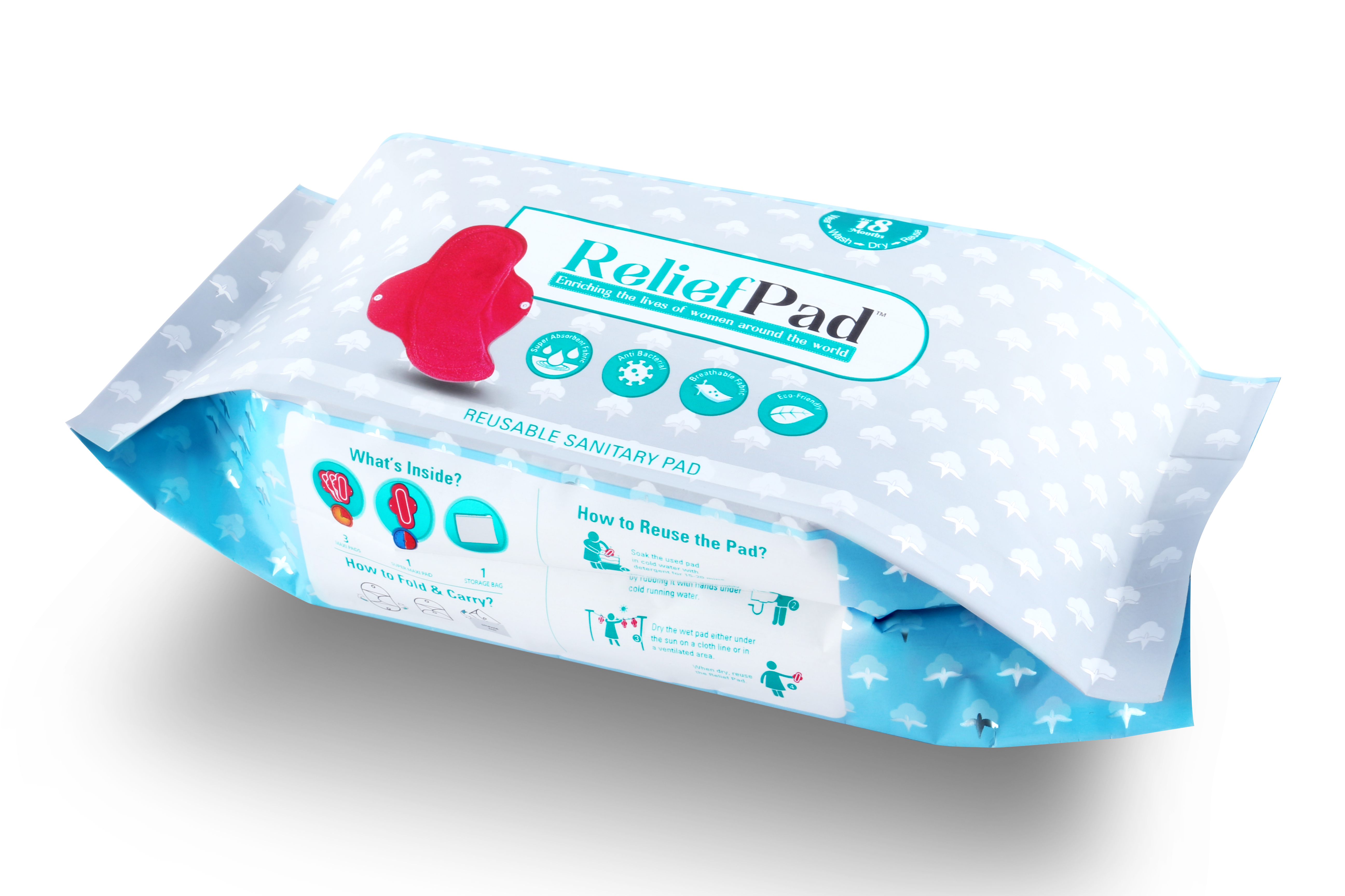 Relief Pad- A Reusable Sanitary Pad- CSRBOX